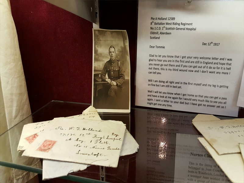 WWI Letters and Photographs Belonging to Private Holland, Found Under Floorboards of his Former Billet at Marine Parade, Lowestoft